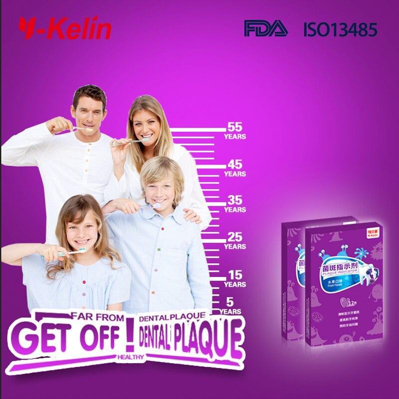 Y-kelin plāksnes atklāšanas tablete 12 Tabu zobu plāksne atklāj - Mutes higiēna - Foto 6