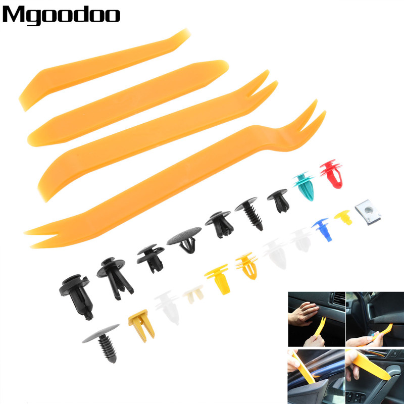 100 200 500PCS Mixed Fasteners Door Trim Panel Auto Bumper Rivet Car Clips Retainer Push Engine Cover Fastener Kit 12 20 30Kinds in Auto Fastener Clip from Automobiles Motorcycles