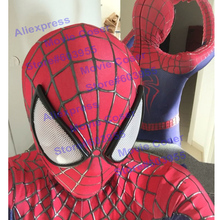 YOY-ZENTAI 3D Cobwebs Embossed Spider Amazing Spiderman Costume Spandex Hero Suit High Quality Custom Made