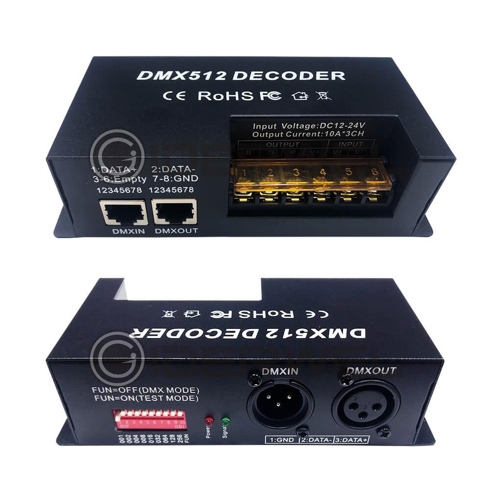 3 ալիք dmx ապակոդավորող rgb LED շերտի հսկիչ - Լուսավորության պարագաներ - Լուսանկար 1