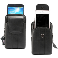 Belt Clip Genuine Mobile Phone Cow Leather Case Holster Pouch For Galaxy J7 Pro J7 Max