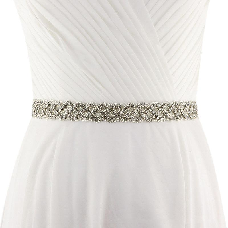 Rhinestone Crystal Wedding Belt Handmade White Ivory Bridal Belt Wedding Party Bridesmaid Dress Belt Wedding Accessories New