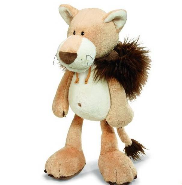 NICI plush toy stuffed doll soft brown lion with hat disguise change 1pc Christmas birthday gift free shipping plush toy happy stuffed pig with a hat