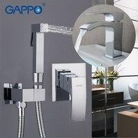 Gappo смеситель для биде раковина бассейна кран ванной кран ванна Биде Душ Набор душа латунь настенное крепление Туалет Биде мусульманских