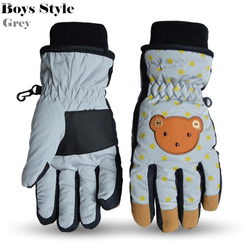 100% Quality Cool Kids Gloves Children Sport Half-finger Black Mittens For Boys Girls Leather Gloves Waterproof Mittens Rich And Magnificent Gloves & Mittens