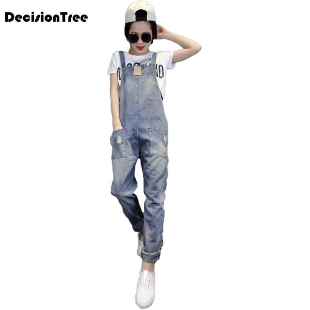 0f6324708aad 2019 new denim jumpsuits women vaqueros romper long pants jeans demin  skinny overalls suspender female catsuit