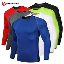 Outto Men's Cycling Base Layers Long Sleeves Compression Tights Bicycle Running Jersey Spor