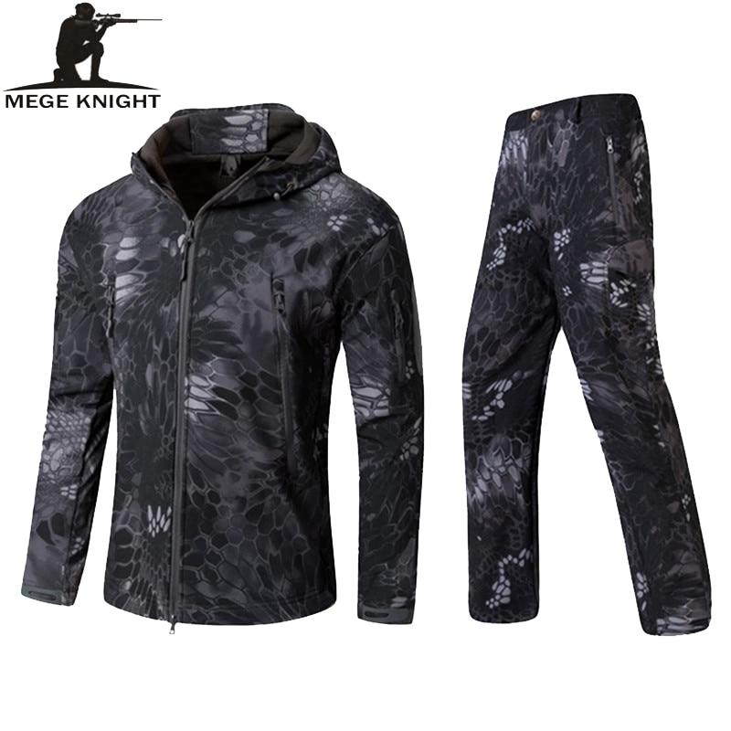 MEGE Military Army Jacket font b Mens b font Winter Autumn Clothing Winter Coat Male Softshell