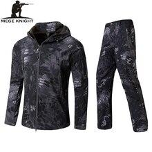 MEGE Military Army Jacket Mens Winter Autumn Clothing, Winter Coat Male Softshell Camouflage Polar Fleece Hoodies