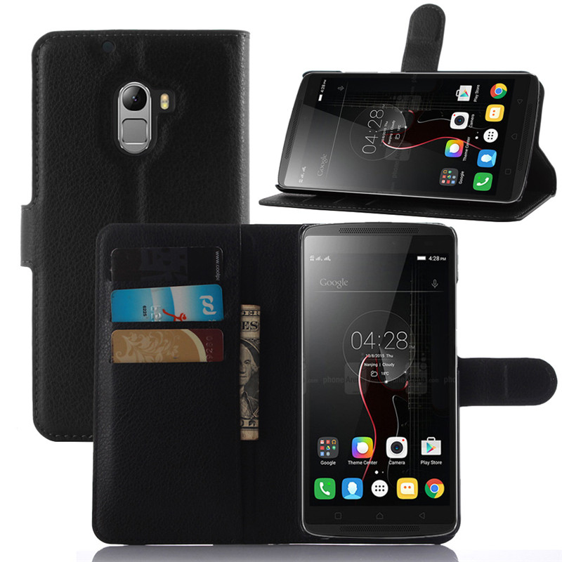 Lenovo K4 Note Case Lichee Pattern Wallet Style PU Leather Case for Lenovo K4 Note Cover Phone Bag with Stand and Card Slot