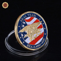Gold Plated Coin USA Navy Seal Team Commemorative Coins Wholesale Uncirculated Custom Metal Coins