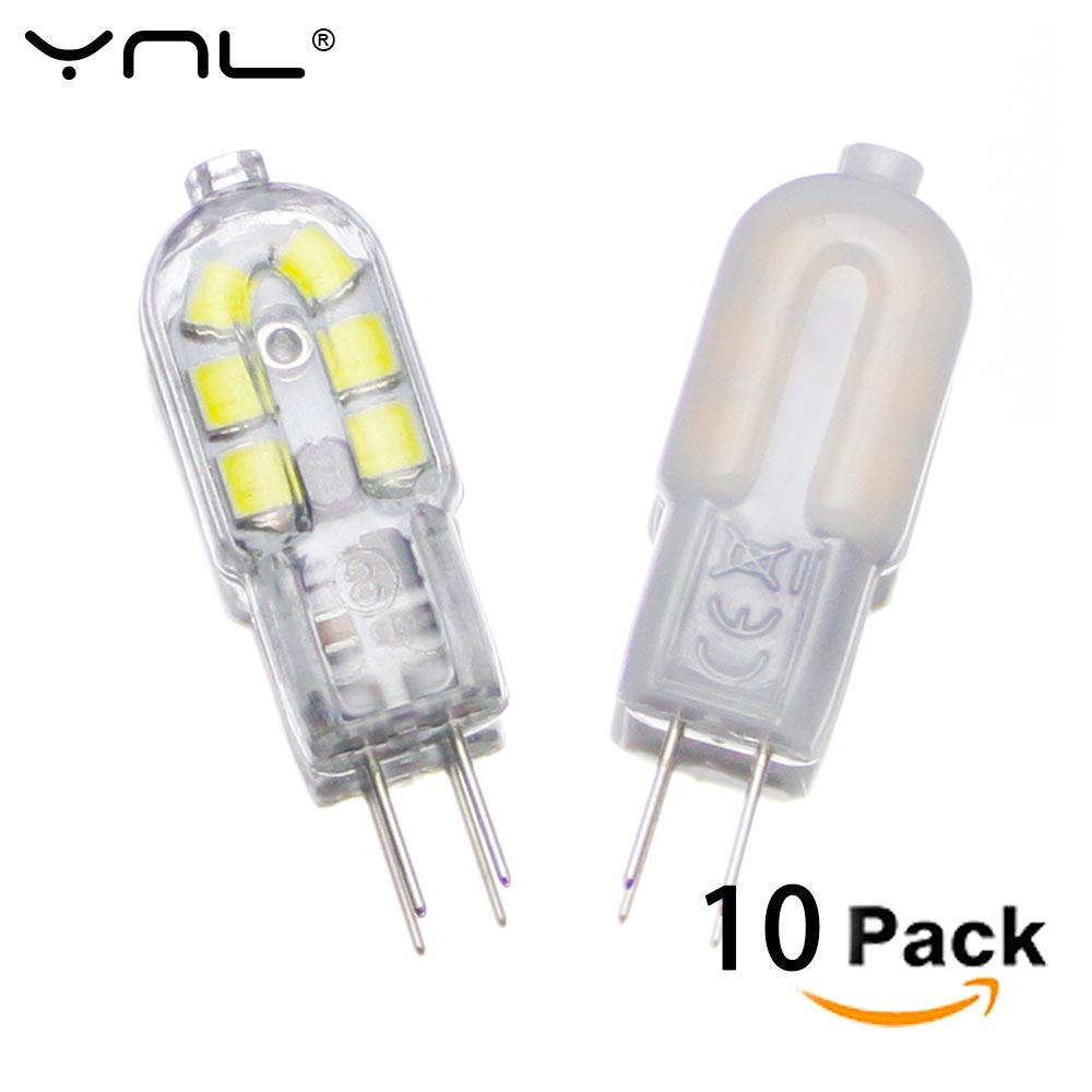 10pcs G4 LED Lamp 2W DC 12V SMD 2835 Lampada LED G4 220V Mini Bulb Milky or Transparent 360 Beam Angle Lights Replace Halogen G4 ynl led g4 lamp 220v 3w 4w 5w dc 12v lampada g4 led bulb smd3014 2835 24 48 64 104l replace 10w 30w halogen light 360 beam angle
