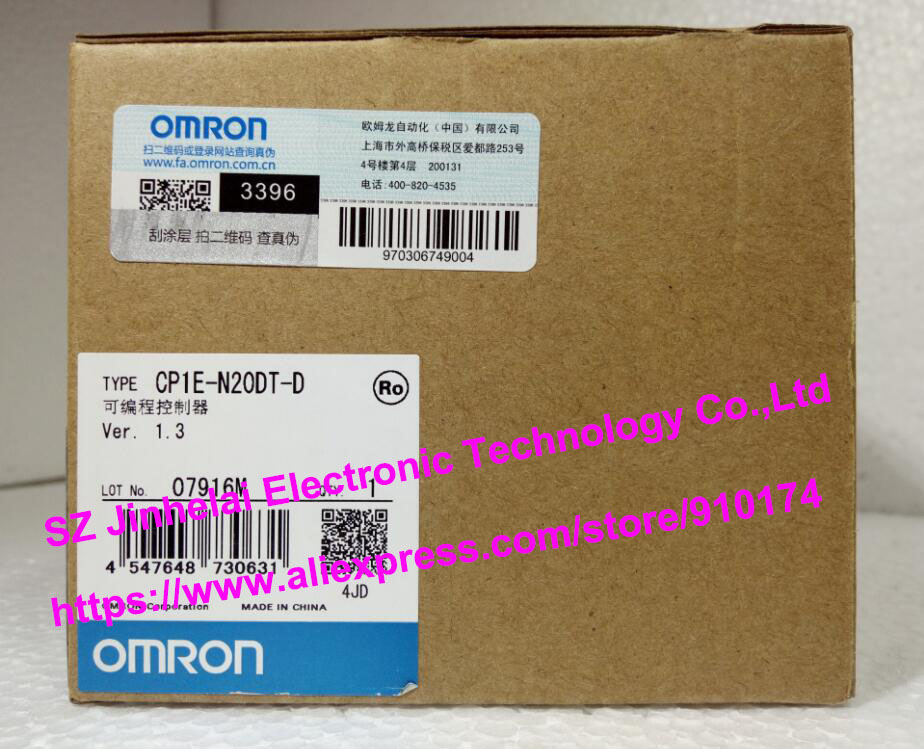 New and original CP1E-N20DT-D OMRON  PLC controller [zob] 100% brand new original authentic omron omron photoelectric switch e2s q23 1m 2pcs lot