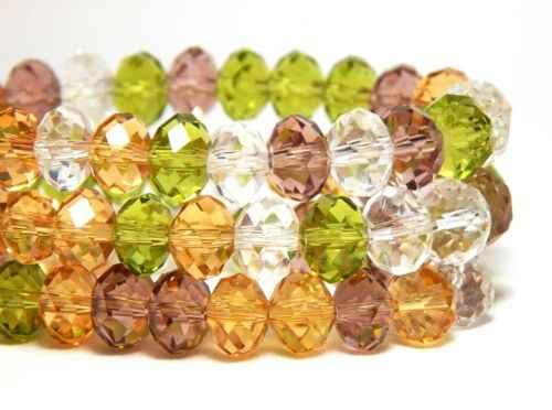 4*3 Mm Bijoux Manik-manik Kristal Rondelle Ragam Perhiasan Bahan Spacer Menjerat Kalung Gelang Brincos Jahit Busur Simpul Aksesoris
