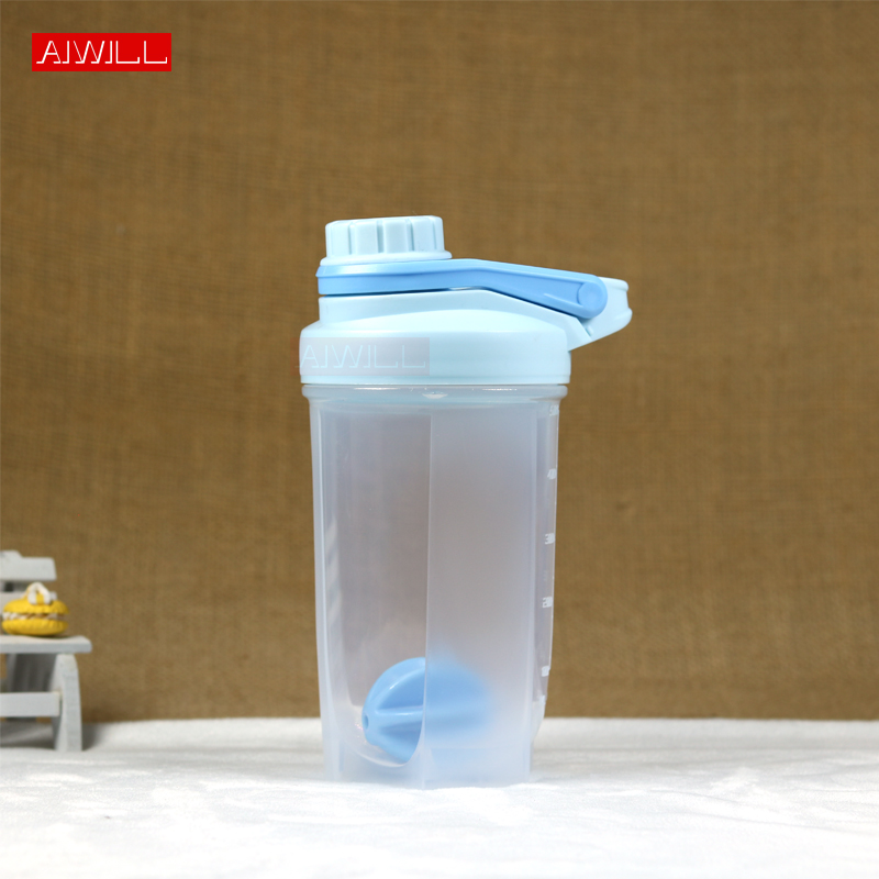 AIWILL Shaker Bottle With Stirring Ball Sports Whey Protein Powder Mixing Bottle Fitness Water Bottle BPA Free for woman gift image