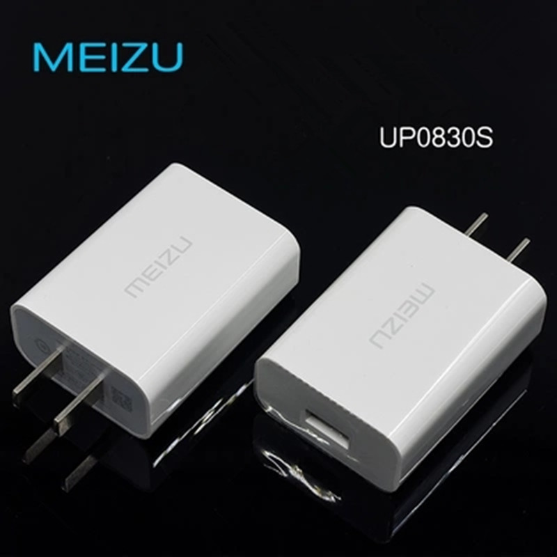 Original MEI ZU Travel Charger Quick QC3.0 UP0830S 5V 8V 3A/12V 2A Mcharge adapters Data Sync Cable for MEIZU Pro7 6 5 Plus