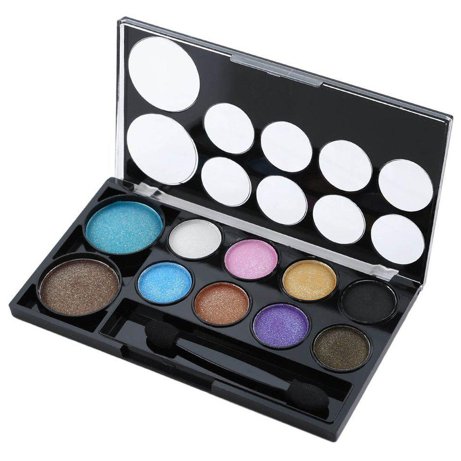 Xibei 10 Colors Palette Makeup Kit Beauty Glitter Long Lasting Waterproof Wedding Party Silty Fine Eyeshadow Brighten Eyes In Eye Shadow From