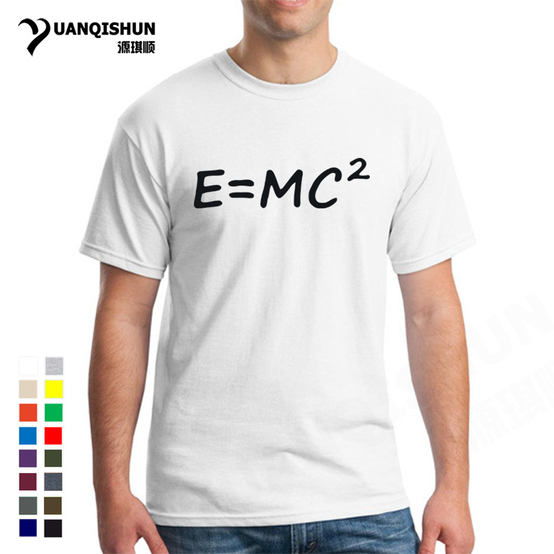 E mc2 T Shirts Big Bang Theory Of Evolution Einstein Mass Energy Equation E=Mc 2 Print Mens T-shirt Unisex 16 Colors Casual Tee