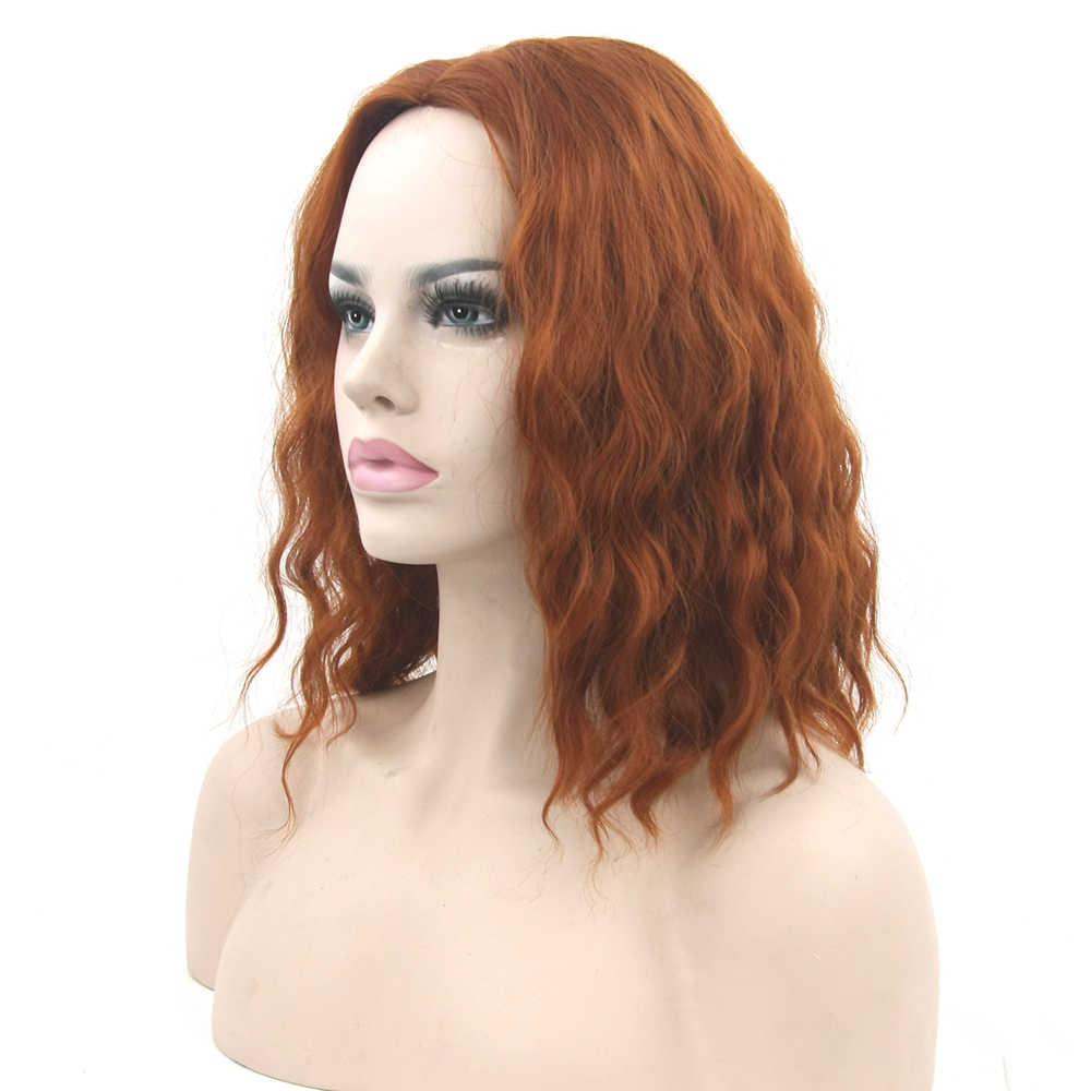 Soowee מתולתל שחור ורוד סינטטי שיער קצר פאה נוכריות מסיבת שיער בורגונדי ירוק אדום קוספליי פאות עבור נשים