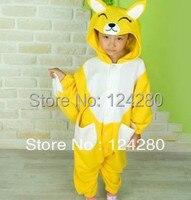 Free Shipping Kigurumi Kids Unisex Fox Onesies Animal Pajamas Costumes Fleece Cosplay Pyjamas Fox Costume For