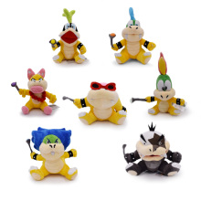 7 pcs/lot Anime Super Mario Bros Koopalings Larry Wendy Iggy Lemmy Roy Ludwig Morton Jr Peluche Doll Plush Soft Stuffed Baby Toy