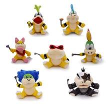 7 pcs/lot Anime Super Mario Bros Koopalings Larry Wendy Iggy Lemmy Roy Ludwig Morton Jr Peluche Doll Plush Soft Stuffed Baby Toy