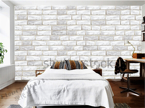 Custom Brick Wall Wallpaper, Old Light Brick Wall Used In The Sitting Room  The Bedroom TV Wall Vinyl Which Paper DE Parede  In Wallpapers From Home ...