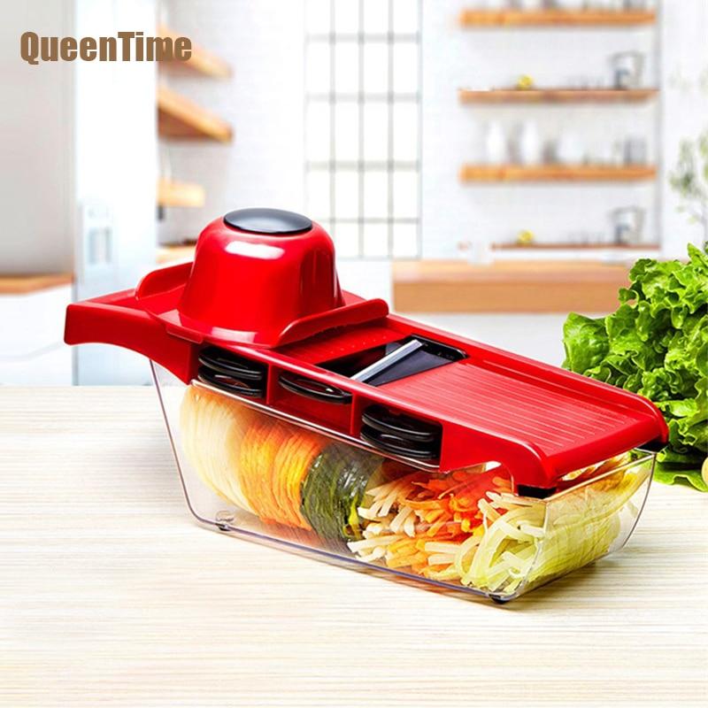 Queentime 6 In 1 Vegetable Grater Vegetable Cutter Salad