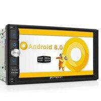 Тыква 2 Din 7 ''android 8,0 универсальный автомобильный Радио нет DVD плеер gps навигация Bluetooth Стерео Wi Fi 4G быстрая загрузка головного устройства