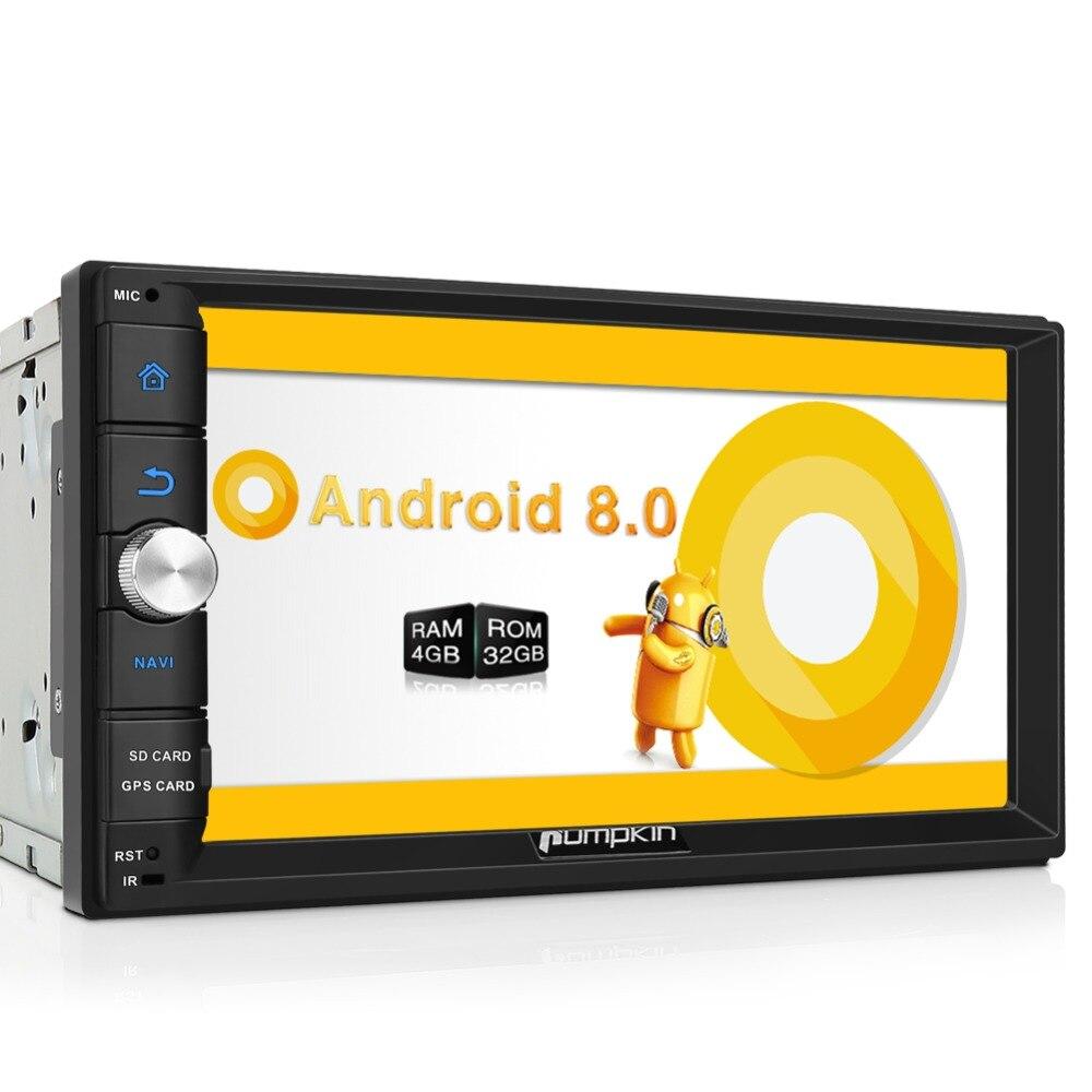 Тыквы 2 Din 7 ''Android 8,0 универсальный автомобильный Радио нет dvd-плеер gps навигации Bluetooth Стерео Wi-Fi 4G быстрая загрузка головного устройства