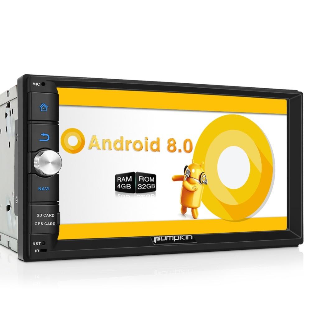 Pumpkin 2 Din 7 Android 8 0 Universal Car Radio No DVD Player font b GPS