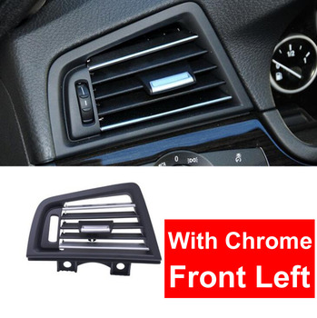 LHD Left Hand Drive Front Left Row Wind Air Conditioning Vent Grill Outlet Panel W/ Chrome Plate For BMW 5 Series F10 F18 Black image