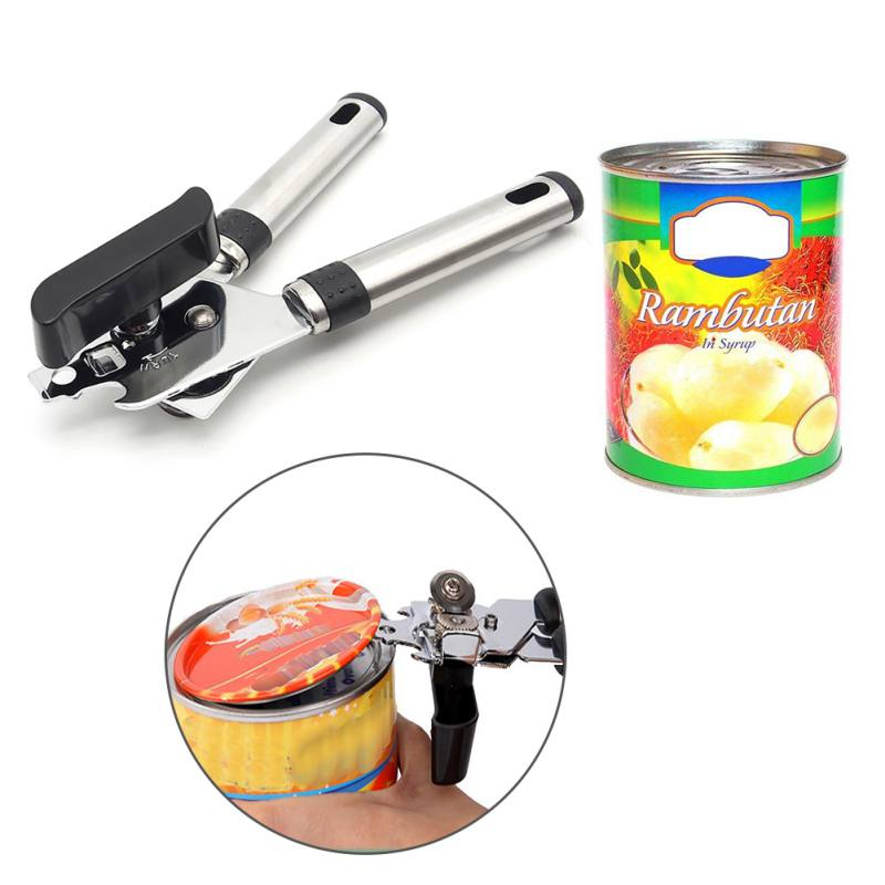 High Quality Stainless Steel Cans Opener Professional Ergonomic Manual Can Opener Side Cut Manual Can Opener