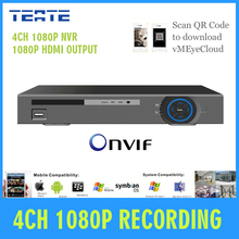 Surveillance System four channel HD 1080P digital NVR Onvif P2P cloud CCTV NVR Video Recorder with HDMI 1080P for IP Digicam system