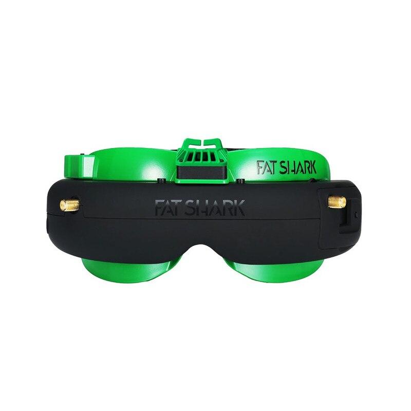 Fatrequin Attitude V5 OLED FPV lunettes 5.8Ghz vraie diversité RF soutien DVR AV-IN/sortie avec étui de batterie pour pièce de Drone RC