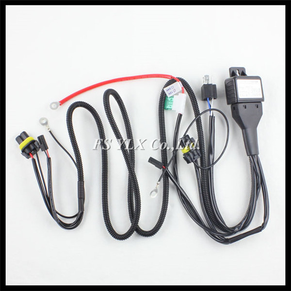 wiring harness headlight promotion shop for promotional wiring 35w 55w hid xenon strengthen extension relay cables wire harness for h1 h4 h7 h8 h9 h11 9005 9006 hid xenon headlight kit