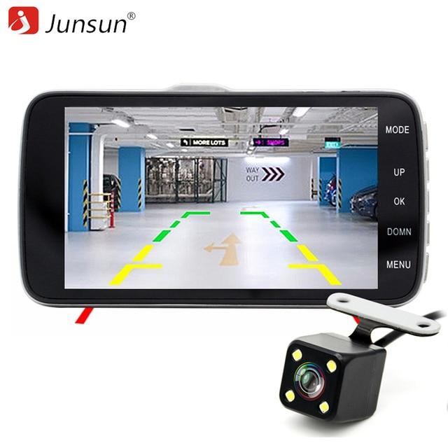 "Junsun H7 IPS 4"" Car DVR Camera Dual Lens with ADAS LDWS Full HD 1296P Car Distance warning Dashcam Video Recorder Registrar"