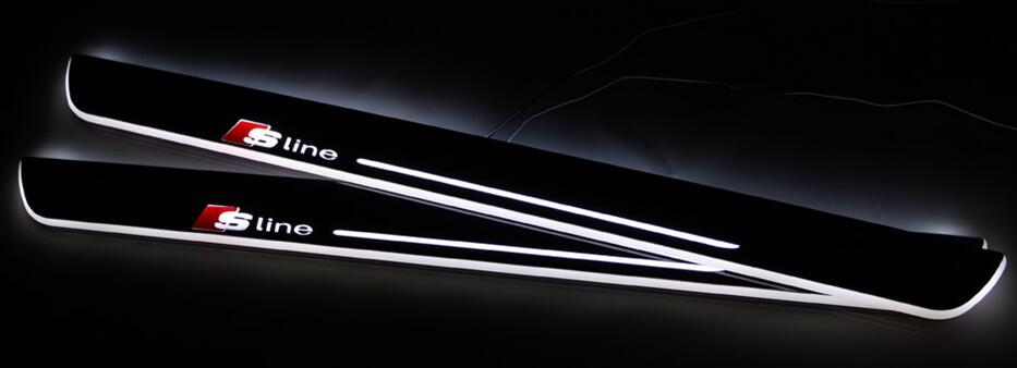 eOsuns LED moving door scuff sill light plate overlays linings Nerf Bars & Running Boards door lamp  for audi TT 8J, with sline led moving door scuff nerf bars & running boards door sill for audi a4 b9 s4 rs4 2013 2015 moving light
