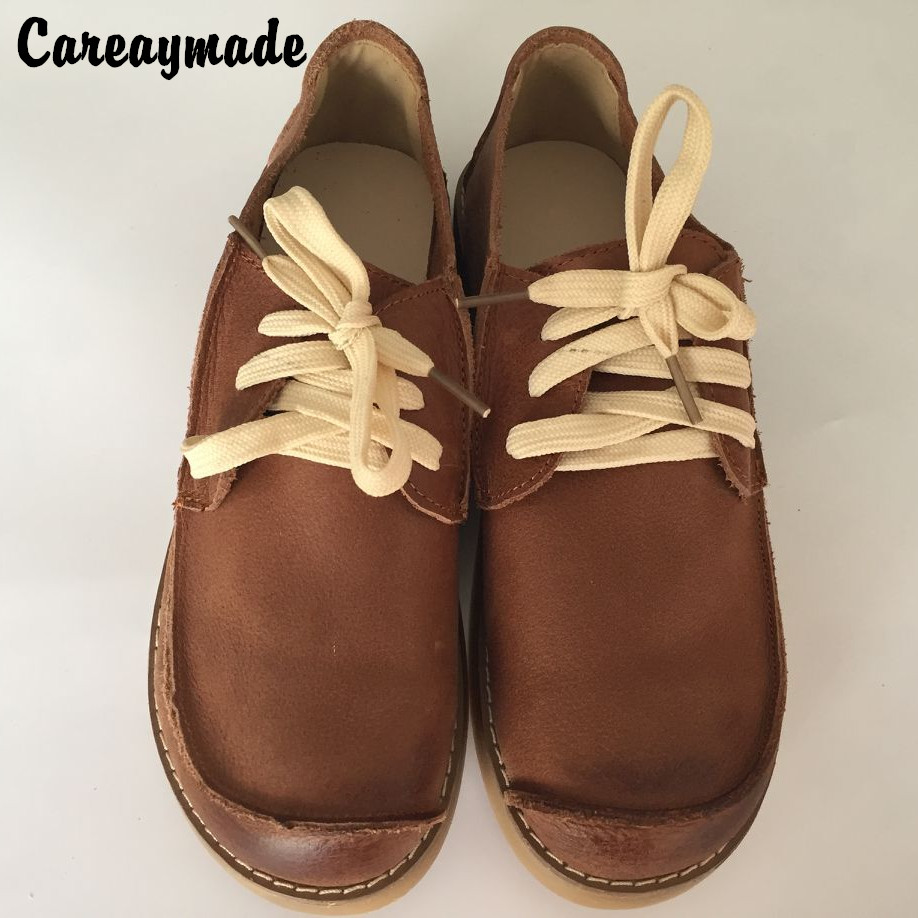 Careaymade-New 2018 Head layer cowhide pure handmade shoes, retro art Mori girl's shoes, casual shoes, women shoes,3 colors huifengazurrcs new pure handmade casual