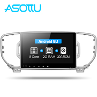 Asottu CKX59060 IPS android Octa Core car dvd player for KIA sportage 2016 2017 KX5 gps navigation 1 din car stereo head unit