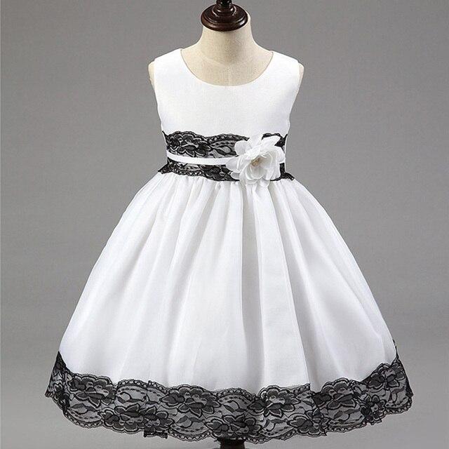 9729d82ca3d1 Girls Sleeveless Silk Dress Kids Princess Party Dress Summer Baby ...