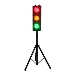 البريطانية القياسية الاطفال تلعب لعبة ترايبود المحمولة 125 مللي متر إشارة LED مرورية