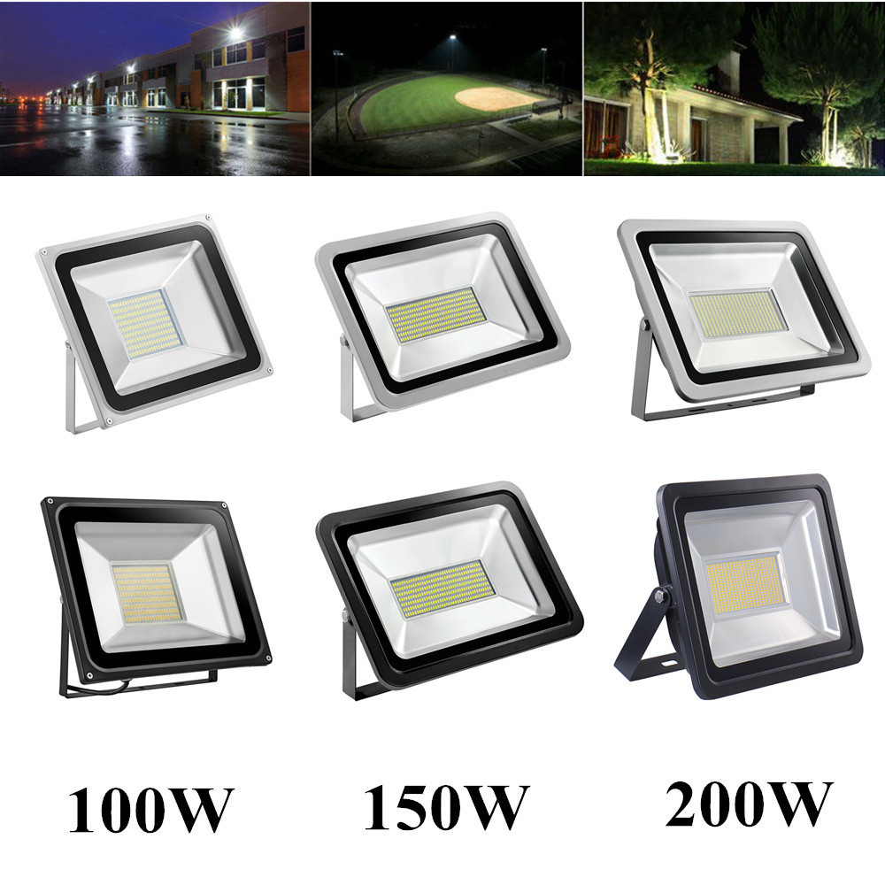 LED Flood Light 100W 150W 200W Floodlight IP65 Waterproof Refletor LED Lamp Spotlight For Christmas Square