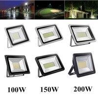 LED Flood Light 100W 150W 200W Floodlight IP65 Waterproof Refletor LED Lamp Spotlight For Christmas Square Wall Lighting 220V