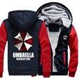 Новые Зимние Сгущает Толстовка Resident Evil Umbrella Молнию Куртки Толстовки Пальто Clothing Casual