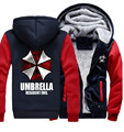 Newest Winter Thicken Hoodie Resident Evil Umbrella Zipper Jacket Sweatshirts Coat Clothing Casual