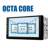 Octa Core Автомобильный плеер 2 DIN Android 7,1 Автомобиль Радио Стерео 7 ''gps навигации Bluetooth USB, sd проигрыватель 2G DDR3 + 32G NAND флэш память