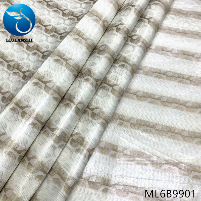 LIULANZHI africain 5 mètres tissu coton brocart nigérian Riche tissu Bazin ML6B99