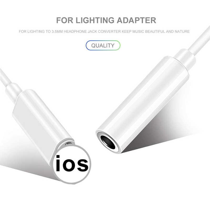 Słuchawki kabel typu jack kobieta do 3.5mm męski adaptery z systemem IOS 11 12 Adapter słuchawek dla iPhone 7 8 X AUX Adapter do błyskawica