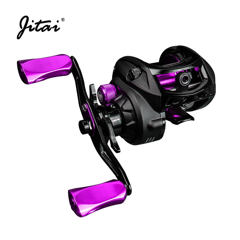 JITAI Baitcasting Fishing Reel  Aluminum Alloy Handle Knob Stainless Steel 12BBs 8KG Carbon Fiber Drag Carretilha Coil WheelsJITAI Baitcasting Fishing Reel  Aluminum Alloy Handle Knob Stainless Steel 12BBs 8KG Carbon Fiber Drag Carretilha Coil Wheels